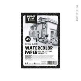 Aquarelpapier A5 15 vel intense white