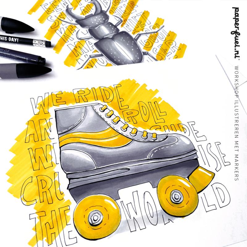 Illustreren met markers workshop // Creative Life 10.30 uur