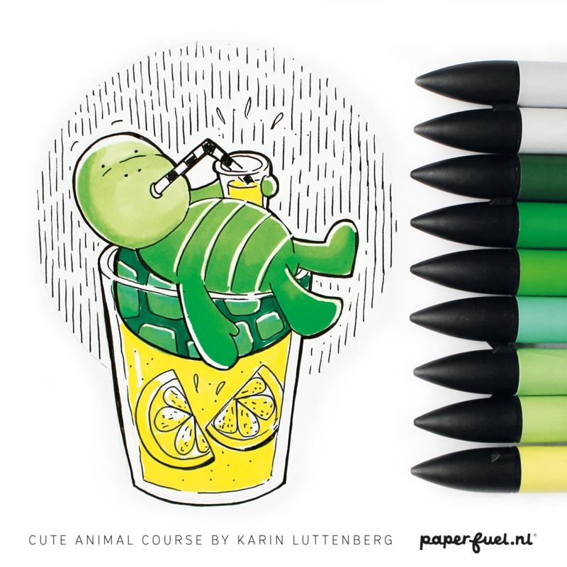 Online facebook workshop 'cute animals tekenen'