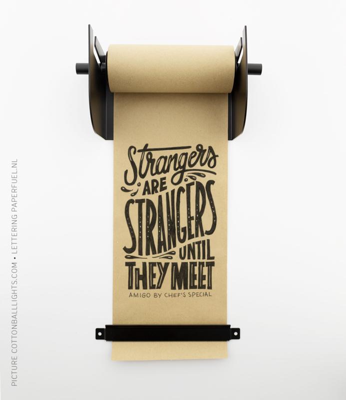 Kraft Paper Roller zwart