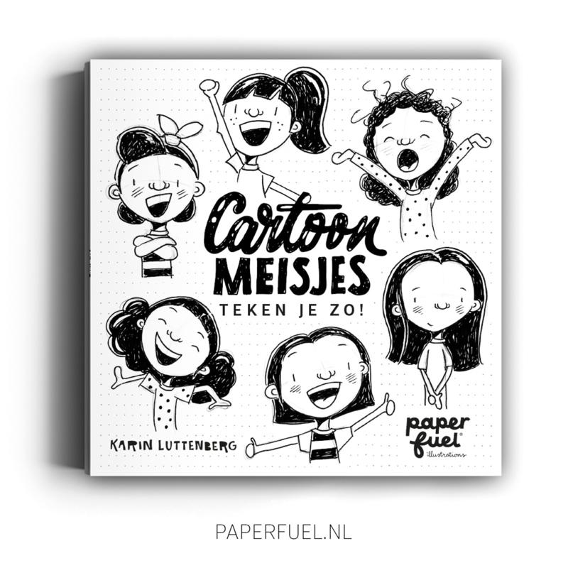 Boek Cartoonmeisjes teken je zo!