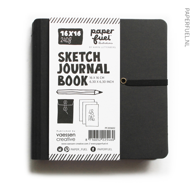 Schets/journal boek 16 x 16 cm Paperfuel