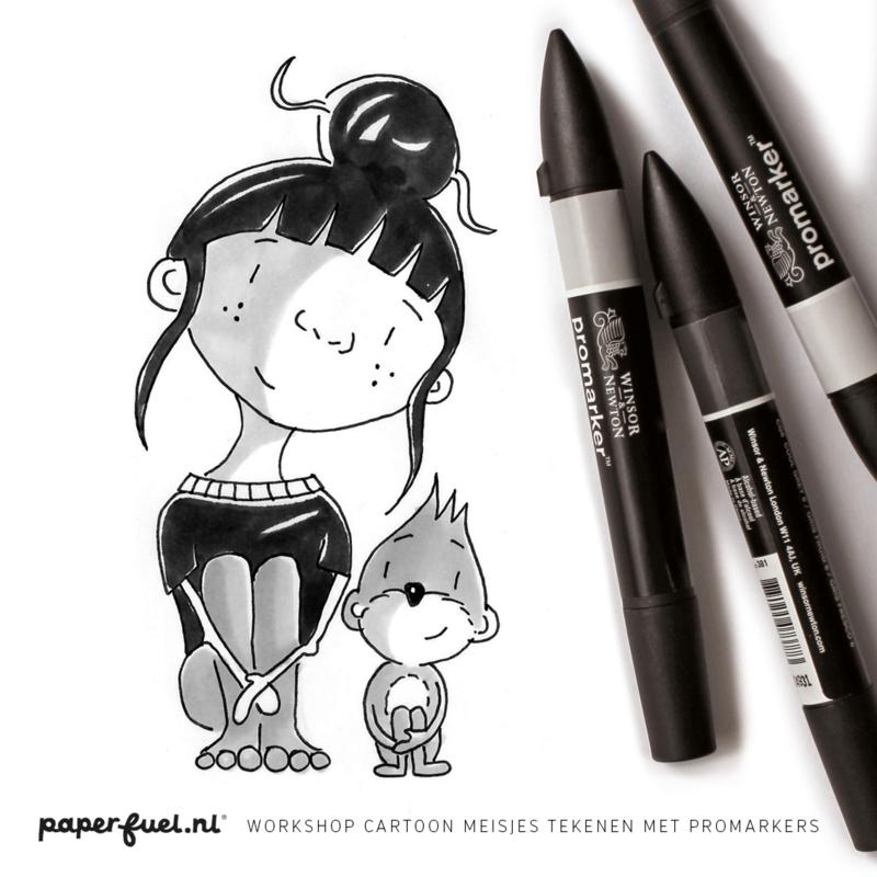 Workshop cartoonmeisjes met promarker // KreaDoe 27 - 31 okt 14.30 uur