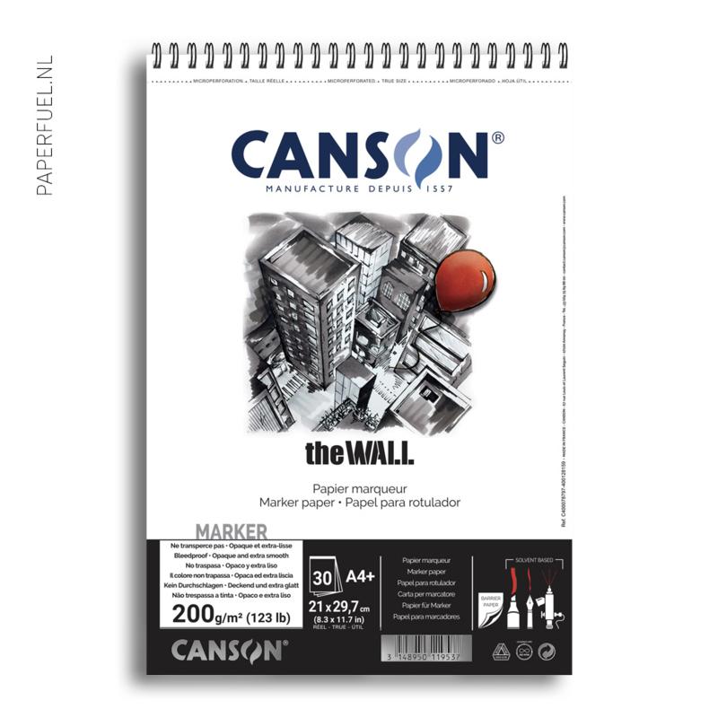 Alchoholmarker papier Canson The Wall A4 spiraal 220 gr