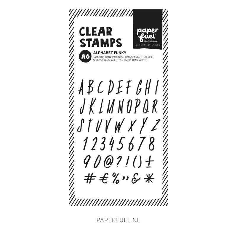 Clear stamps A6 Alfabet funky