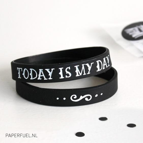 Armbandje 'Today is my day'