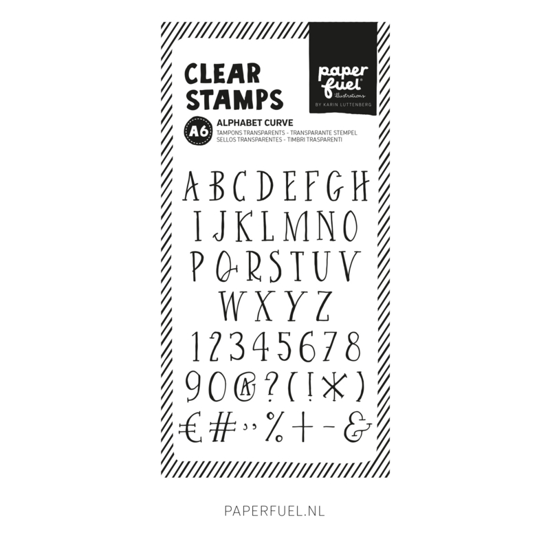 Clear stamps A6 Alfabet curve