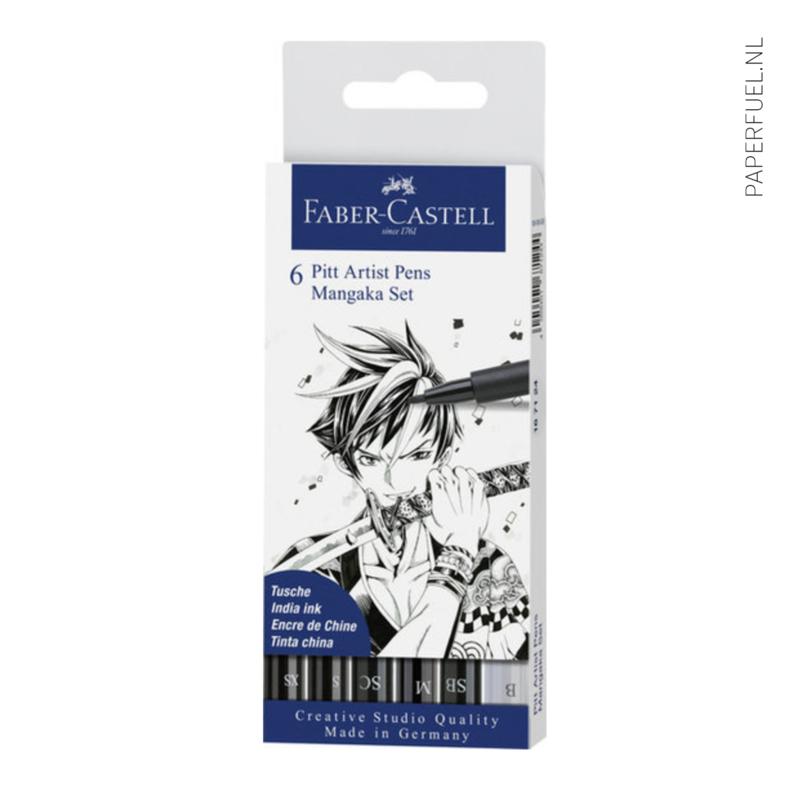 Set 6 pennen Faber Castell Mangaka