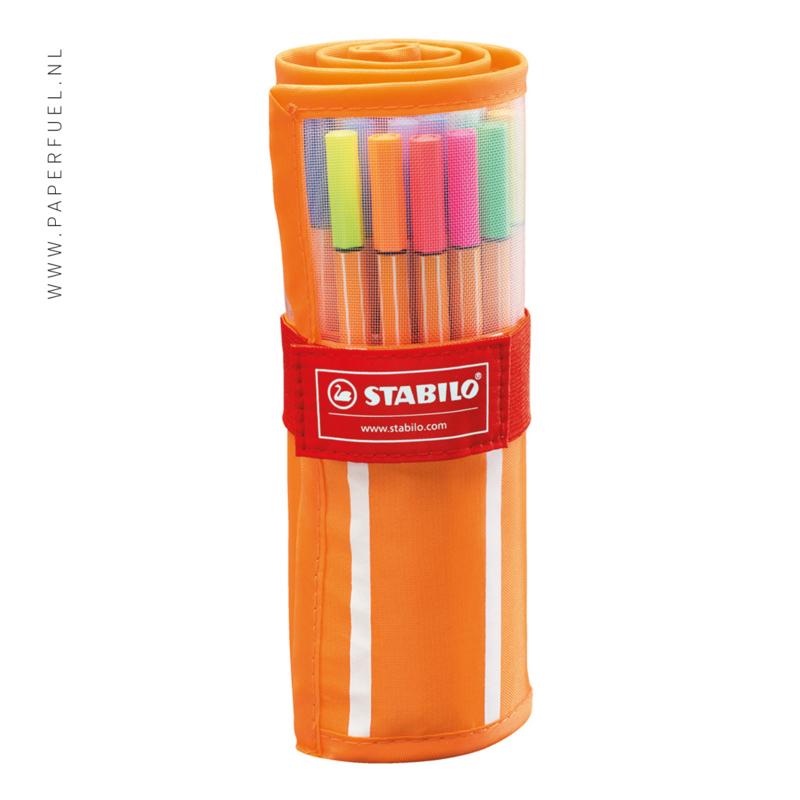 Stabilo fineliners point 88 rollerset met 30 kleuren