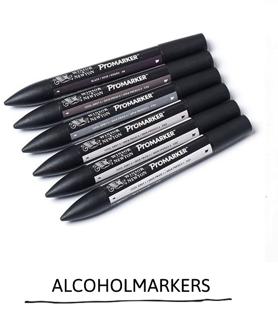 Alcoholmarkers by Winsor and Newton Paperfuel