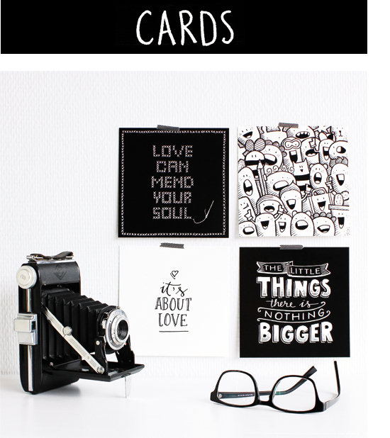 Cards with handlettering by Paperfuel