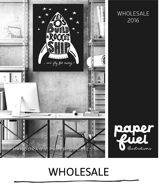 Get your wholesale information for handlettered goodies by Paperfuel