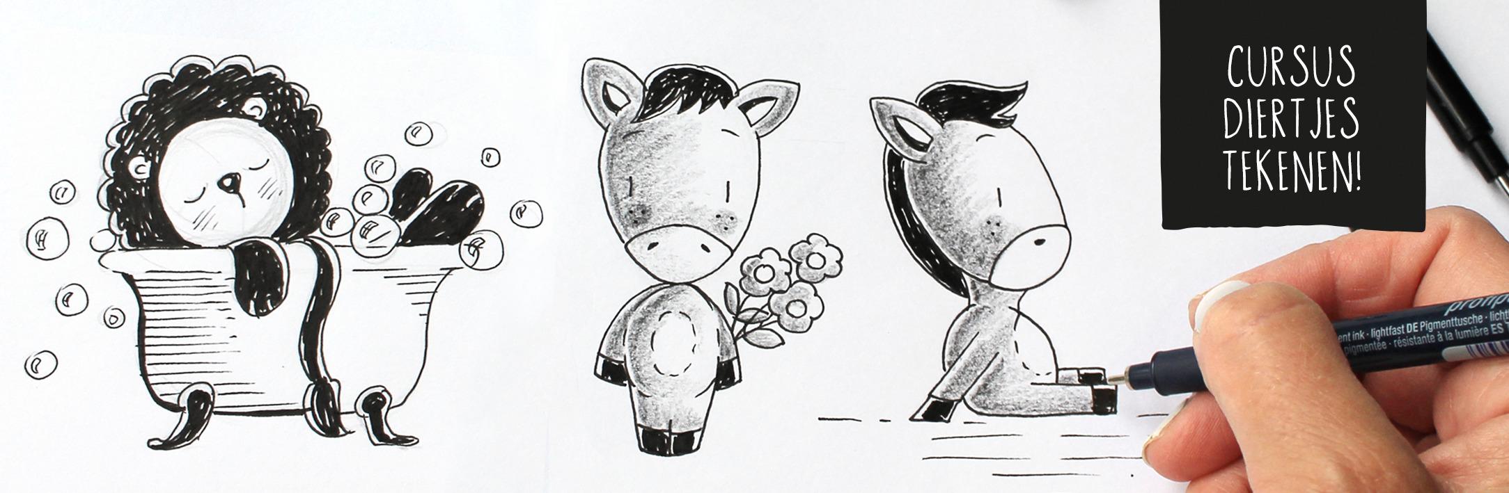 Cursus schattige diertjes tekenen