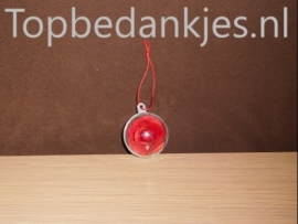 Kunstbloem in transparant plastic bal
