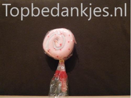 Handdoek lolly lollie roze
