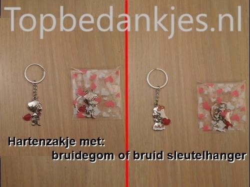 Sleutelhanger bruid / bruidegom / kikker