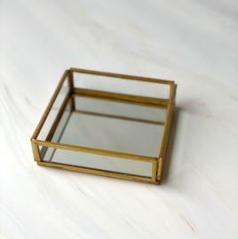 Box for Rocks Goud  - spiegelbodem