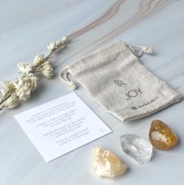 JOY  citrien - oranje calciet - bergkristal