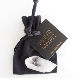 WINTER MAGIC - black giftbag
