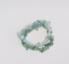 Bracelets: Aventurine & Amazonite * Fortune & Protection*
