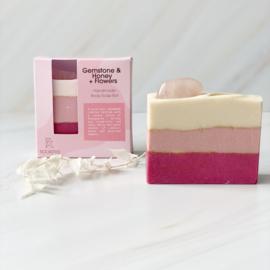 Rosequartz  - Honey&Flowers - Soap Bar