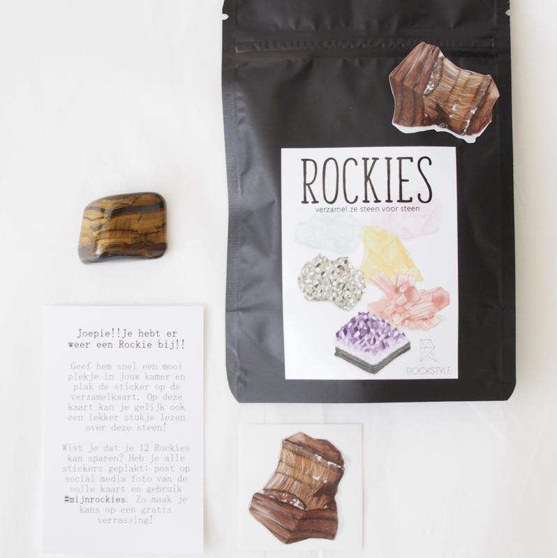 Rockie Tijgeroog met sticker