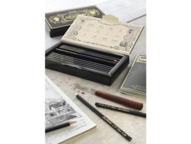 Historische jubileumeditie Faber-Castell Polygrades Lothar von Faber, 12 grafietpotloden