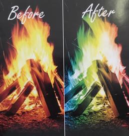 Mystical Fire regenboogvuur voor haard of vuurkorf