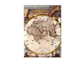 Papieromslag (archiefmapje) Wereldkaart A4