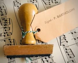 Vintage handtekeningstempel Bartholomé