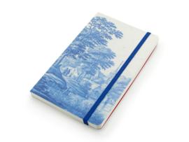 Softcover notitieboek A6, Delftsblauw Hollands rivierenlandschap