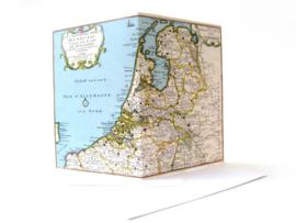 Dubbele kaart + envelop Historische landkaart Nederland