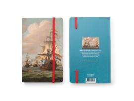 Softcover notitieboek A6, Ontmoeting op Zee (1689) Willem van de Velde