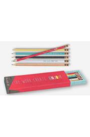 Set van 6 potloden in doos Happy  Me