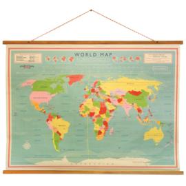 Wereldkaart Vintage I