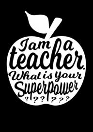 Kaart I'm a Teacher zwart