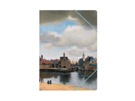 """Map met elastische sluiting, A4 """" Gezicht op Delft"""" Vermeer"""