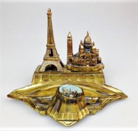 Inktstel Paris, verguld brons, ca 1950