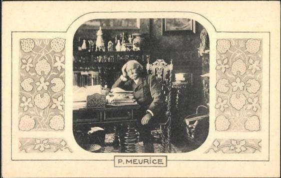 Ansichtkaart Paul Meurice, auteur, ca 1900
