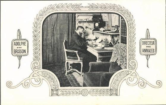Ansichtkaart Adolphe Brisson, directeur Les Annales. Ca 1900