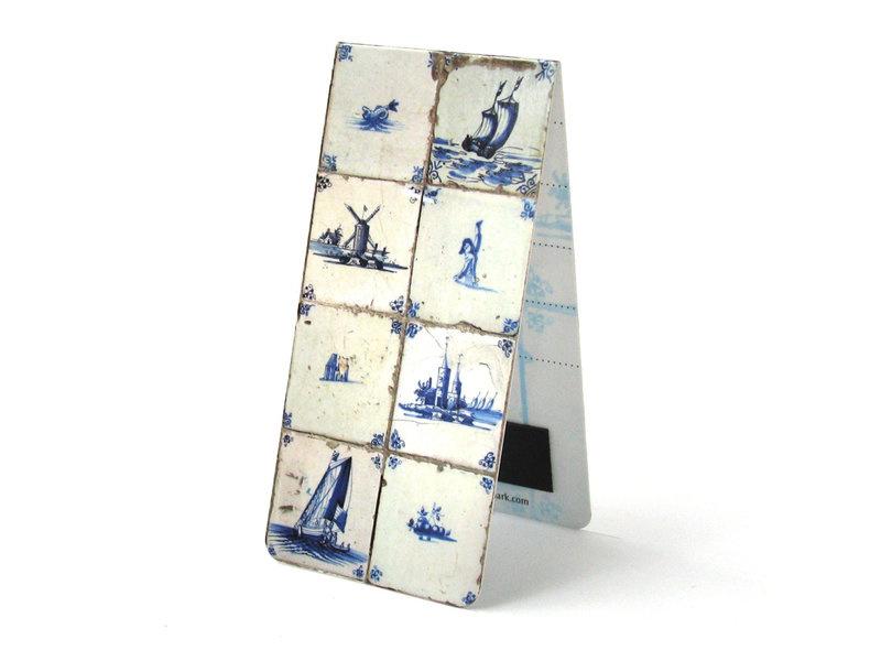 Magnetische boekenlegger Delftsblauwe tegeltjes
