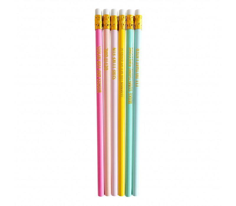 Set van 6 potloden Super Awesome