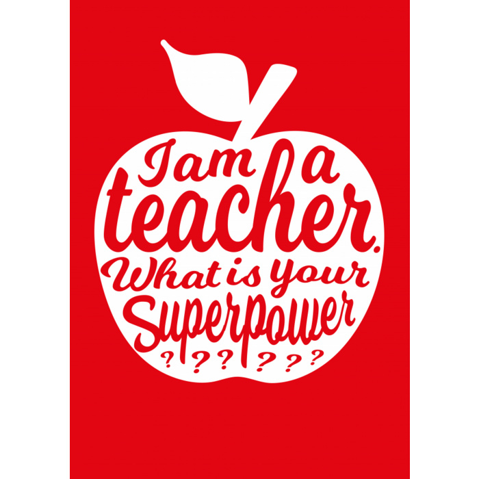 Kaart I'm a Teacher rood
