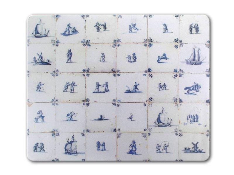 Muismat, Delfts blauwe tegels (1620-1750)