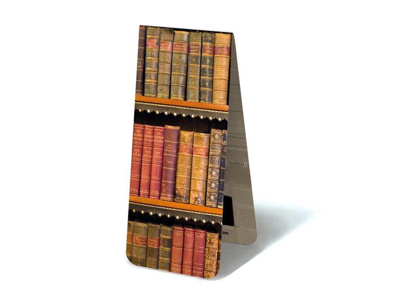 Magnetische boekenlegger Oude boeken op een plank