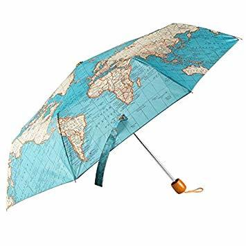 Paraplu Vintage Map, opvouwbaar