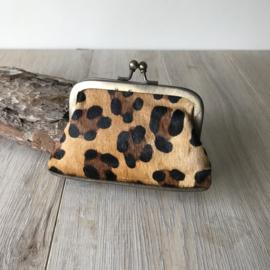 Portemonnee clip leopard 2