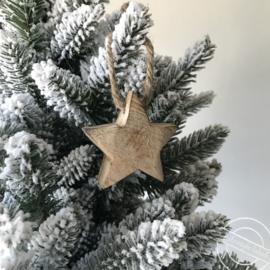 Houten kersthanger ster