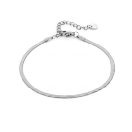 Stainless steelzilver platte armband