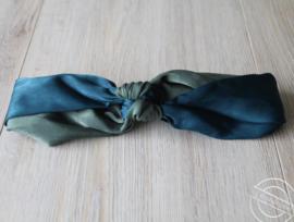 Haarband blauw/groen